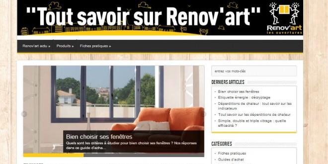 Le blog de Renov'Art