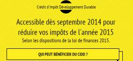 Le crédit d'impôt - CIDD