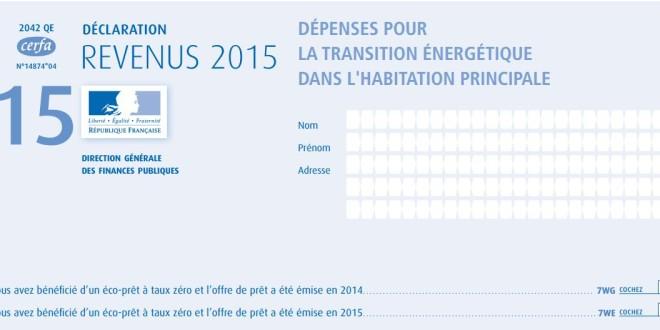 Crédit d'impôt : remplir sa déclaration sur les revenus 2015