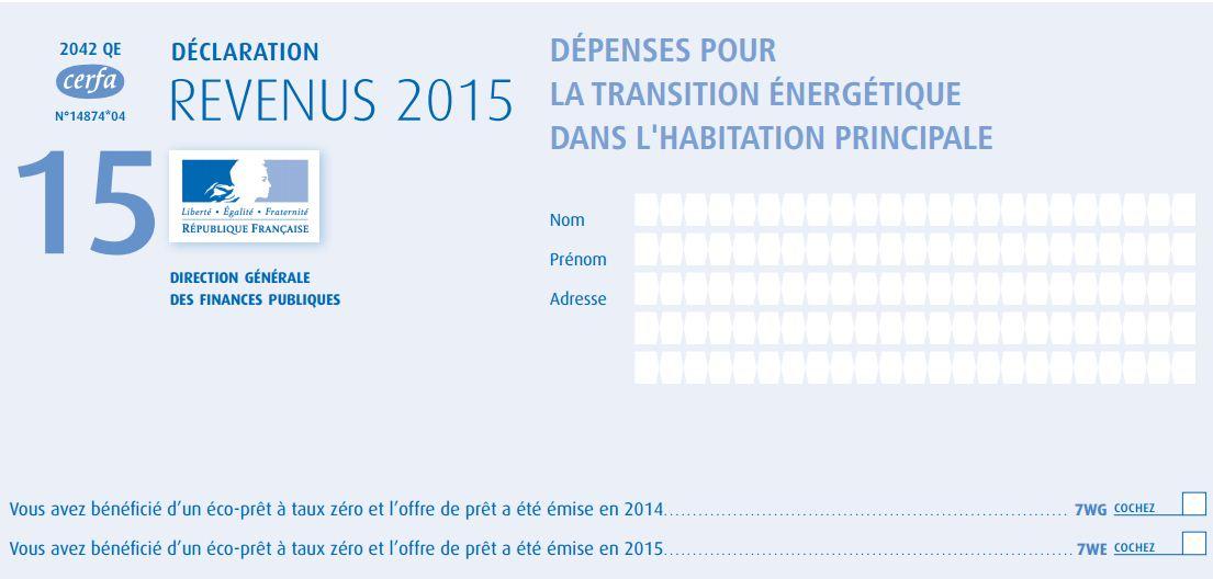 Credit D Impot Remplir Sa Declaration Sur Les Revenus 2015