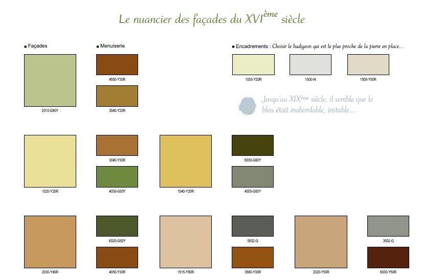 Nuancier 16ème - couleurs des volets à Pau