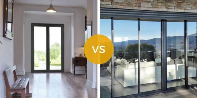 Porte fenêtre ou baie vitrée ? Le comparatif