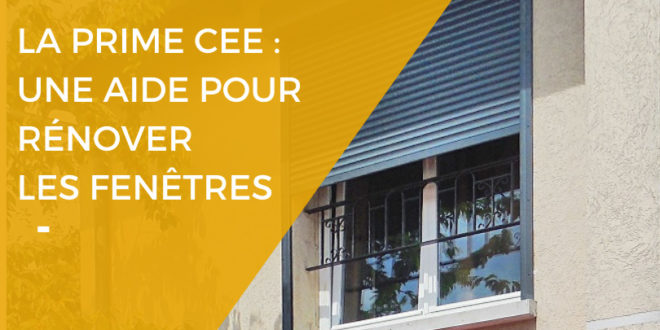 Renovart - la prime CEE une aide pour rénover les fenêtres
