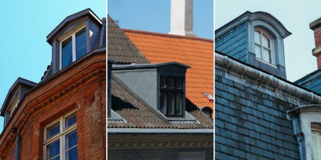 Fenêtres en chien assis et lucarnes de toit